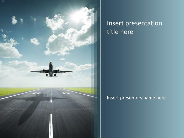 Ppt airplane travel powerpoint template powerpoint presentation insert presentation title here toneelgroepblik Choice Image