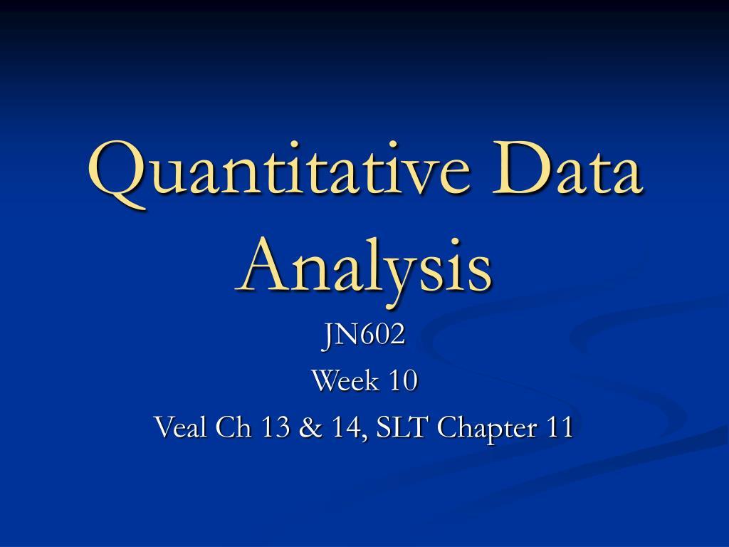 quantitative data analysis l.