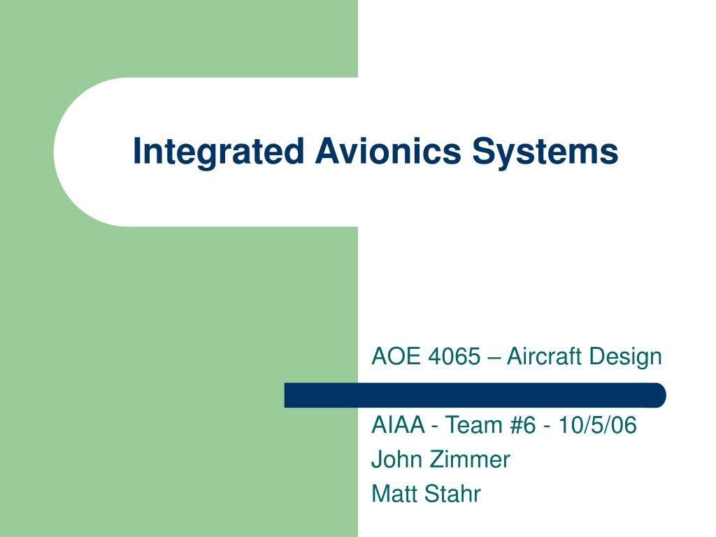 integrated avionics systems l.