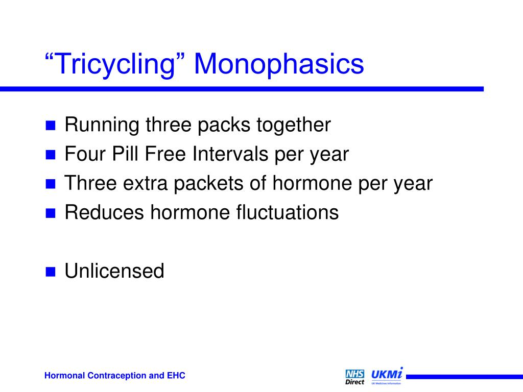 """""""Tricycling"""" Monophasics"""