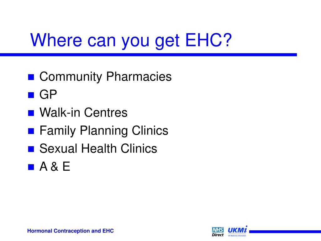 Where can you get EHC?