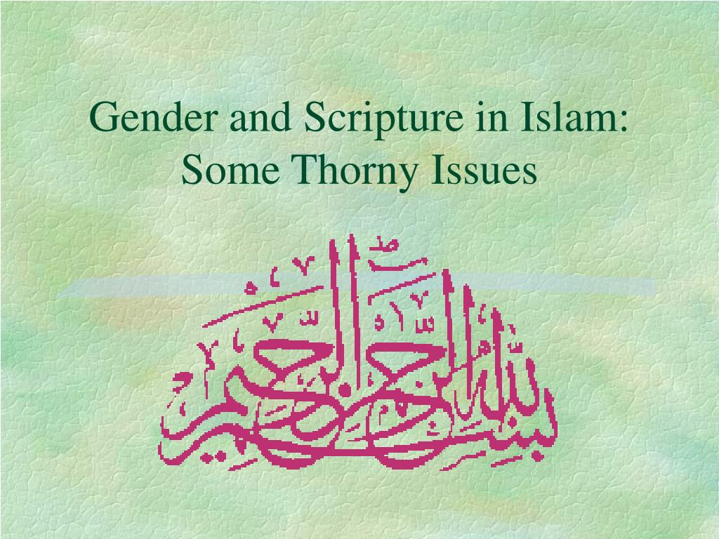 Gender and Scripture in Islam: