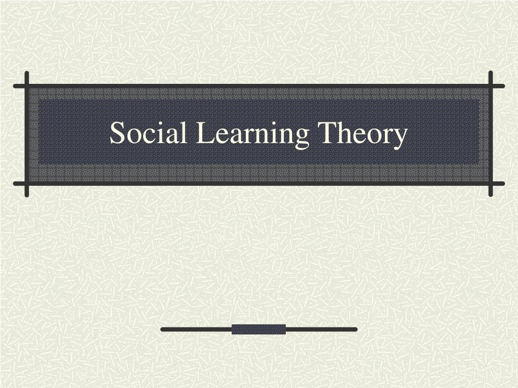 social learning theory l.