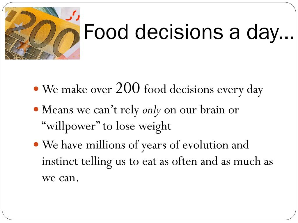 Food decisions a day...