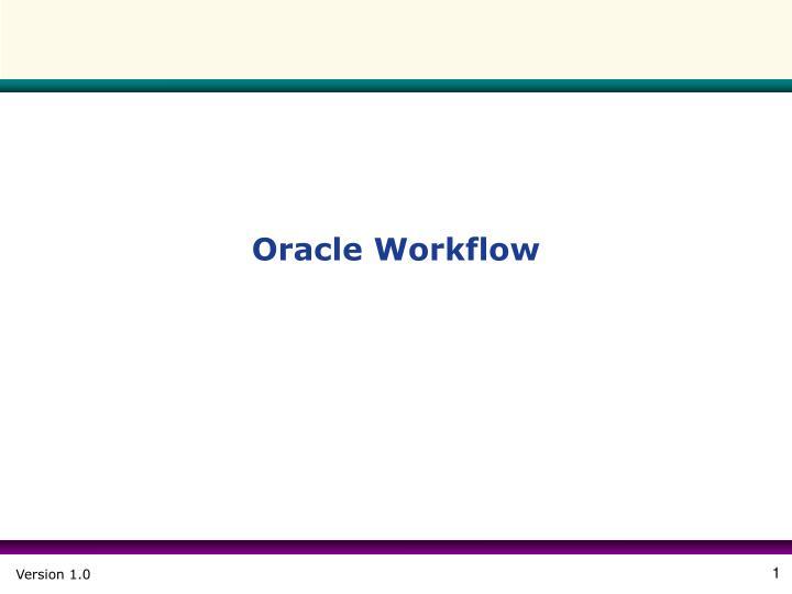 oracle workflow n.