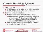current reporting systems