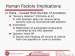human factors implications