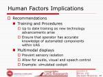 human factors implications42