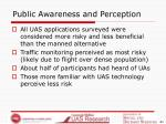 public awareness and perception