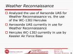 weather reconnaissance