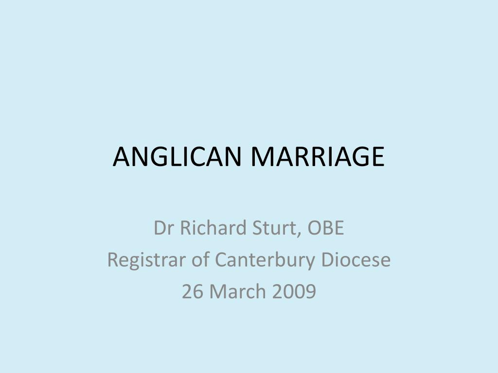 anglican marriage l.