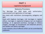 part 1 legislative background