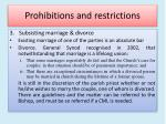 prohibitions and restrictions7