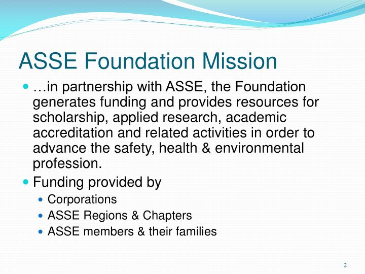 Asse foundation mission