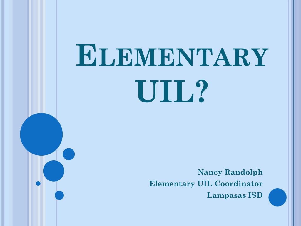 elementary uil l.