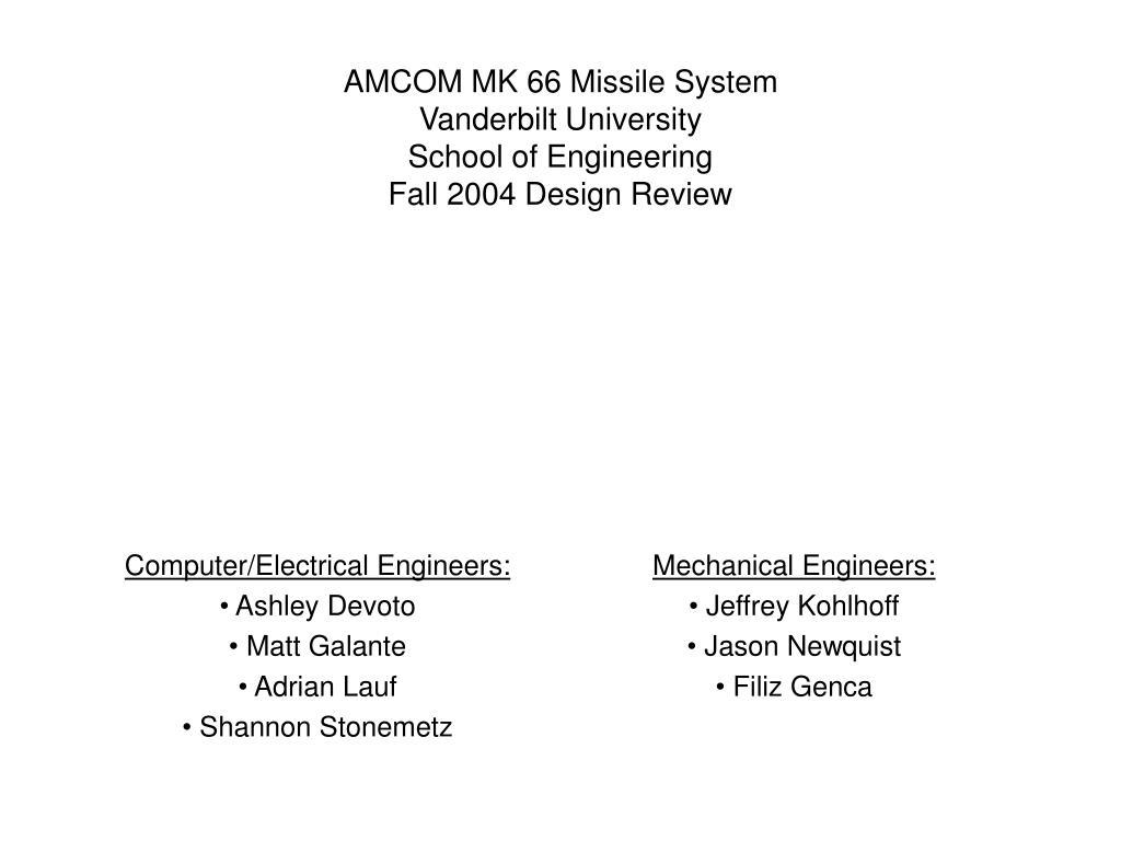 AMCOM MK 66 Missile System