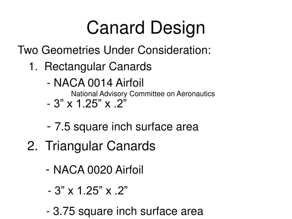 Canard Design