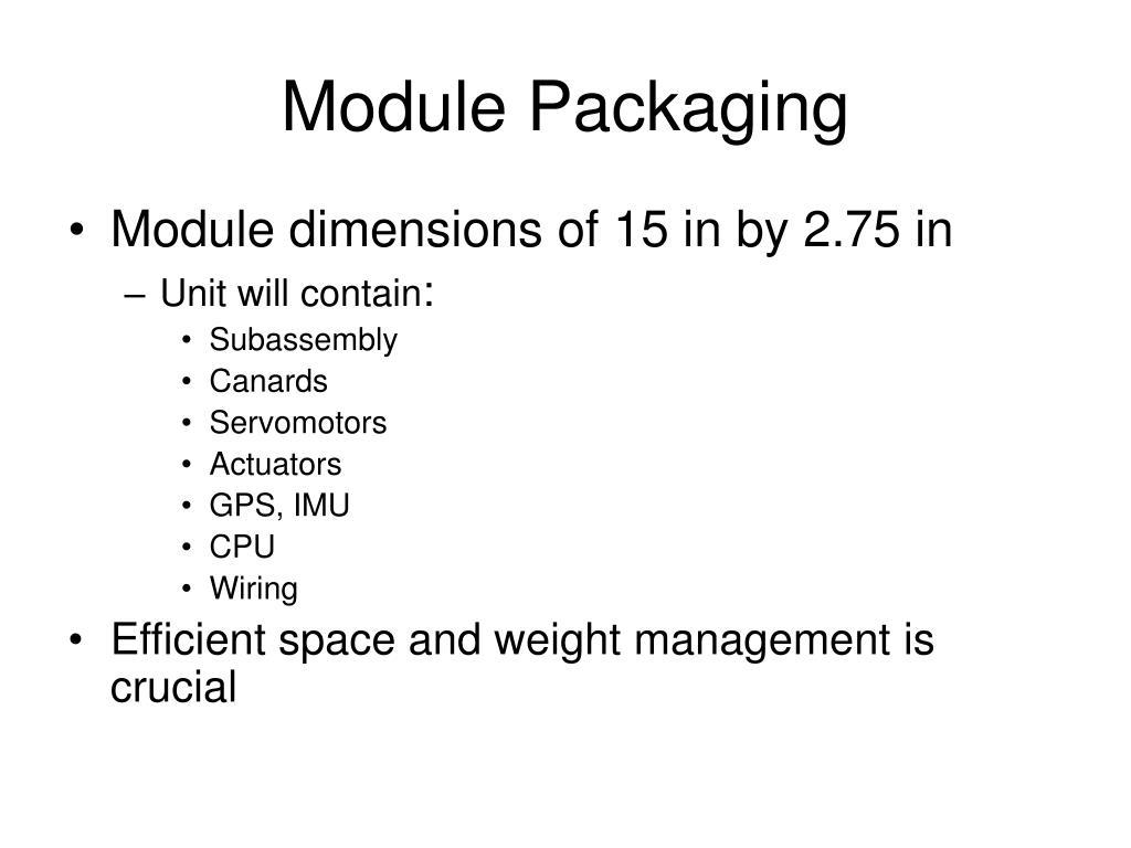 Module Packaging