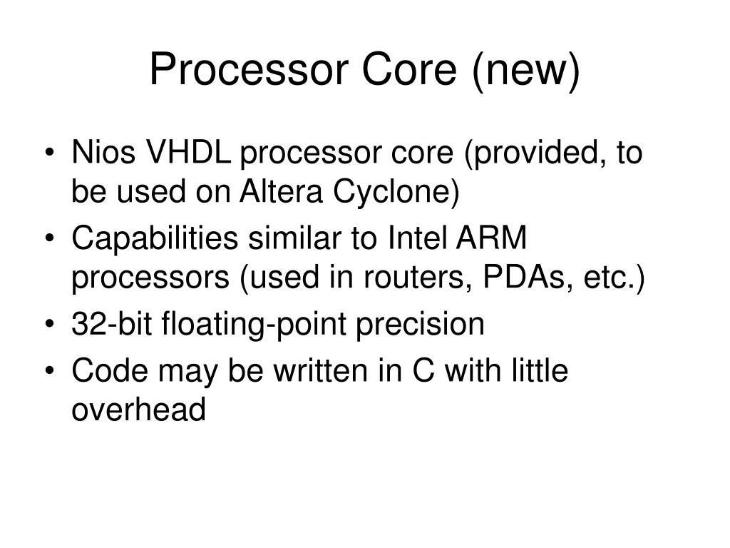 Processor Core (new)