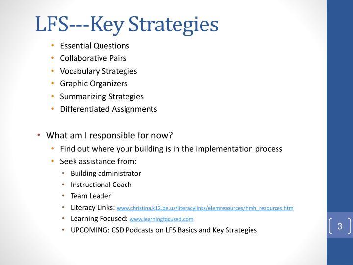 Lfs key strategies