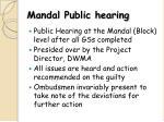 mandal public hearing