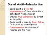 social audit introduction