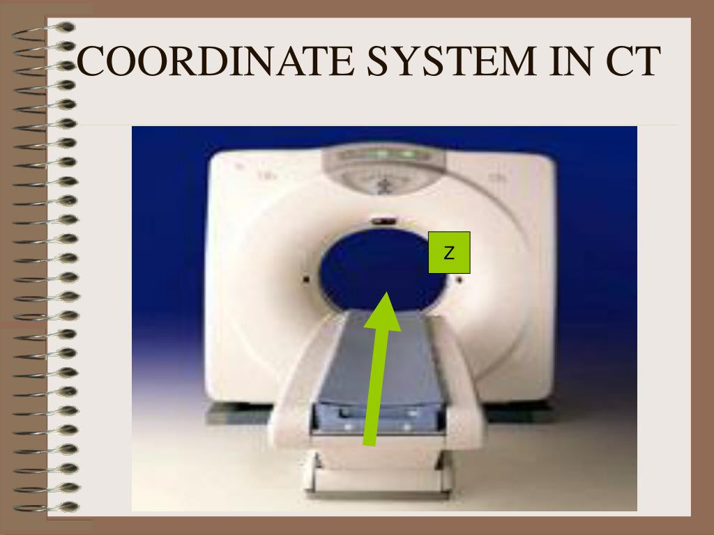 COORDINATE SYSTEM IN CT