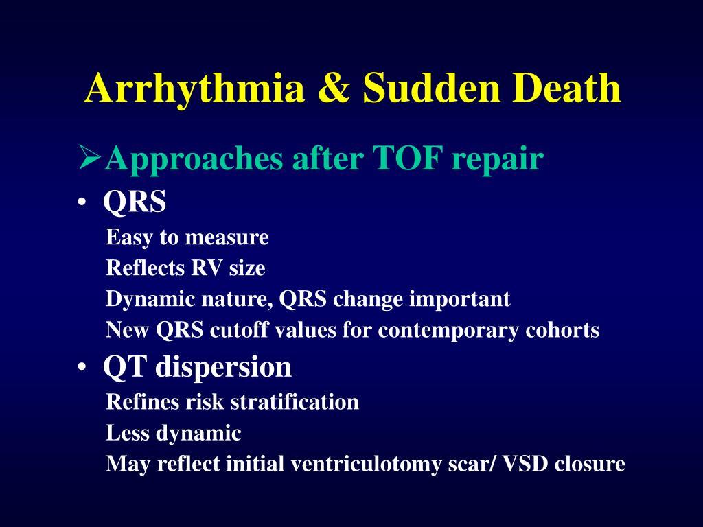 Arrhythmia & Sudden Death