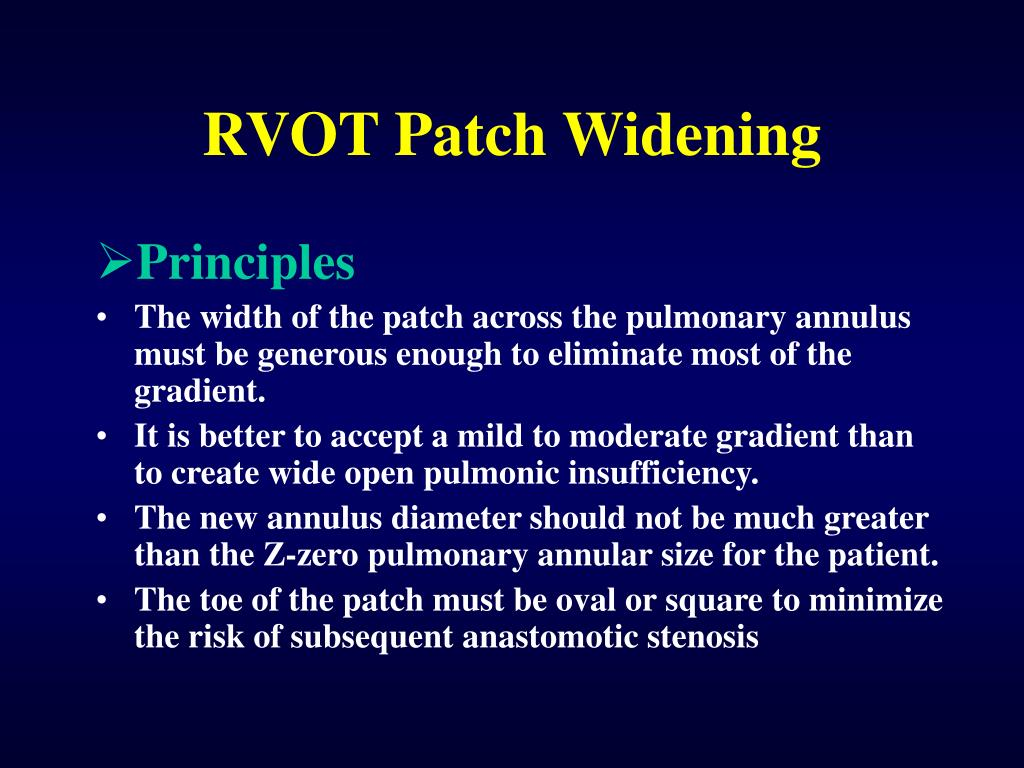 RVOT Patch Widening