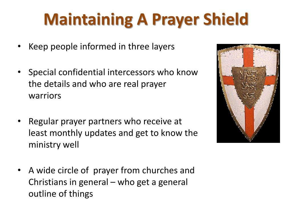Maintaining A Prayer Shield
