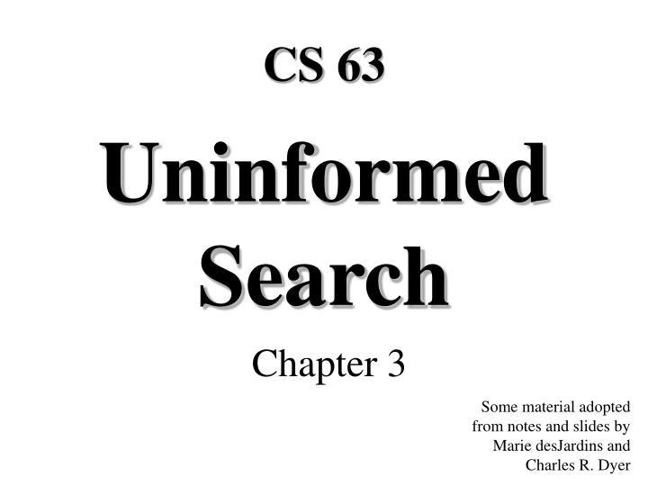 uninformed search n.