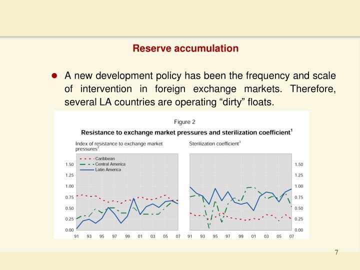 Reserve accumulation