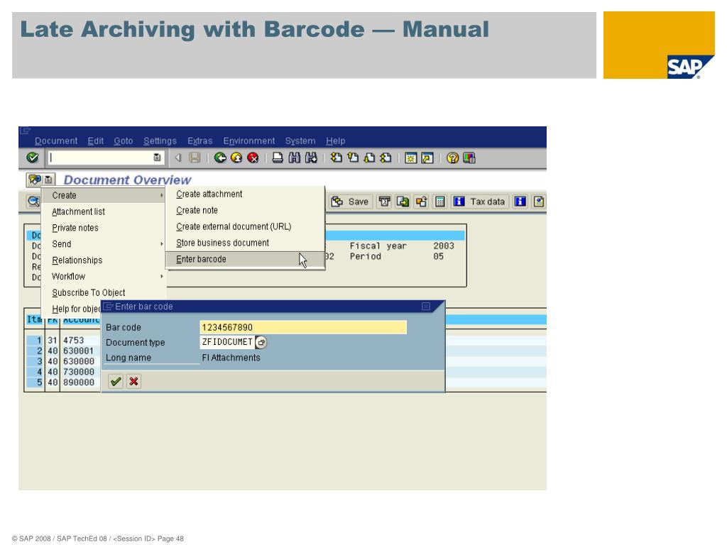 PPT - IM111 Use the SAP Content Server for Your Document Imaging and