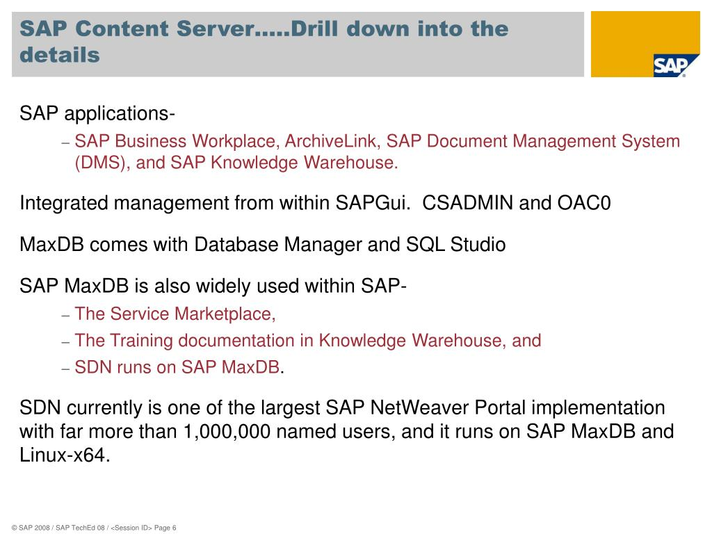 PPT - IM111 Use the SAP Content Server for Your Document