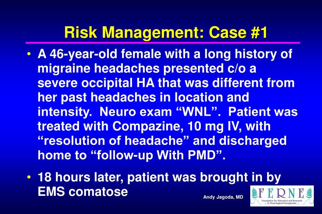 Risk Management: Case #1