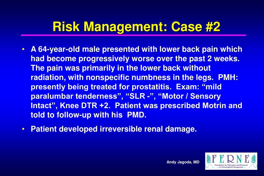 Risk Management: Case #2