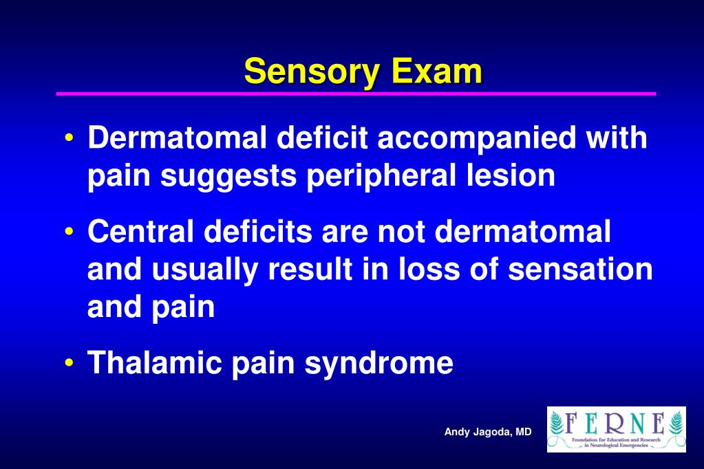 Sensory Exam