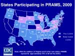 states participating in prams 2009