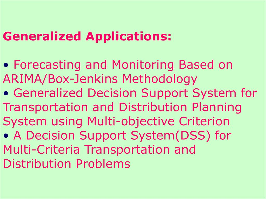 Generalized Applications: