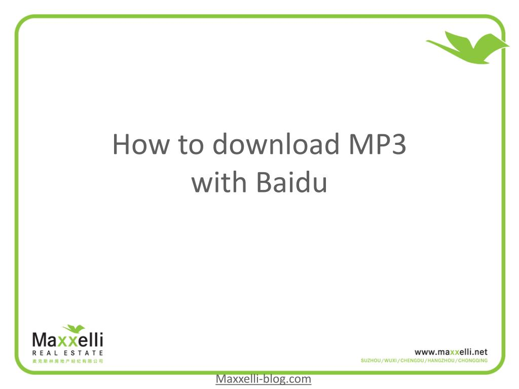 how to download mp3 with baidu l.