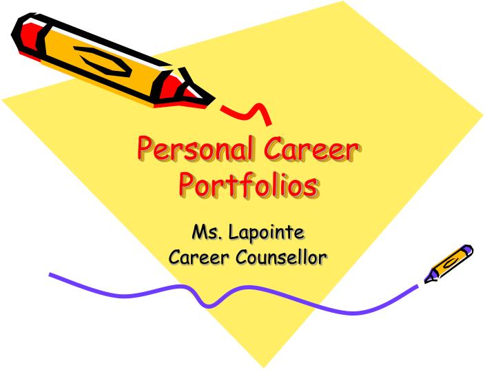 personal objectives of a portfolio A comprehensive portfolio would include word processing files of your resume and writing samples, digital images of your graphic and artwork, and video and audio files in most creative fields--like writing, web design, graphic design, advertising, photography or videography, for example--a portfolio is absolutely required to secure a job.