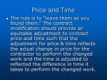 price and time