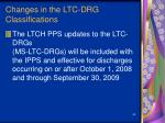 changes in the ltc drg classifications