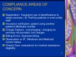 compliance areas of concern