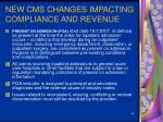 new cms changes impacting compliance and revenue