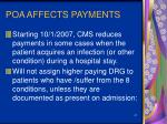 poa affects payments