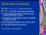 research sources
