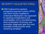 severity adjusted drgs