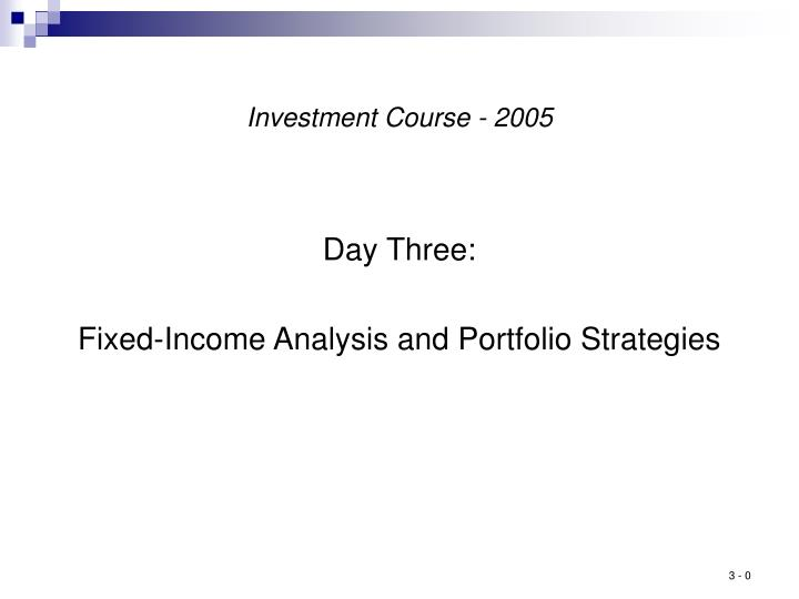 investment course 2005 n.