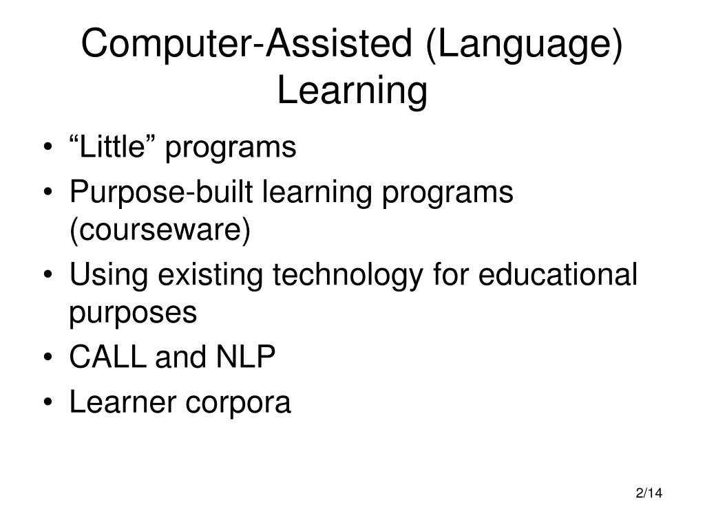 computer-assisted language learning thesis Mobile assisted language learning:  out in key journals, including computer assisted language learning journal, computers and education, journal of.
